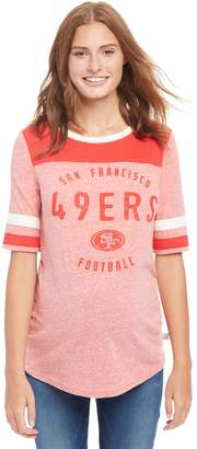 Motherhood Maternity San Francisco 49ers NFL Elbow Sleeve Maternity Graphic Tee