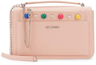 Love Moschino Chain-Strap Branded Crossbody & Chain-Strap Embellished Pouch