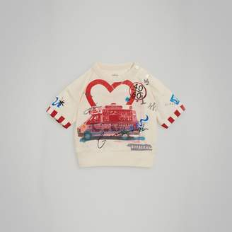 Burberry Postcard Motif Cotton T-shirt