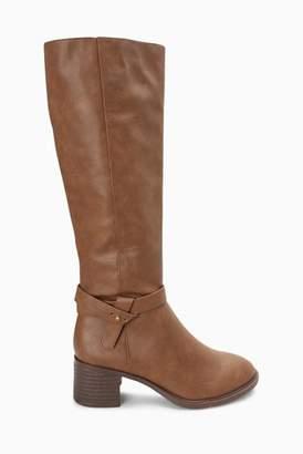 Next Womens Chocolate Long Zip Boots