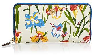 Tory Burch Printed Floral Continental Leather Wallet
