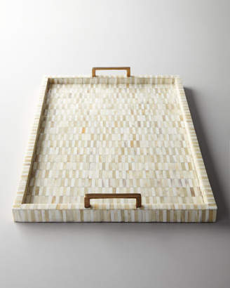 Regina-Andrew Design Regina Andrew Design Bone Tray with Brass Handles
