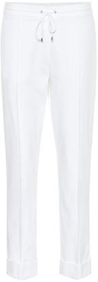 Kenzo High-rise straight cotton pants
