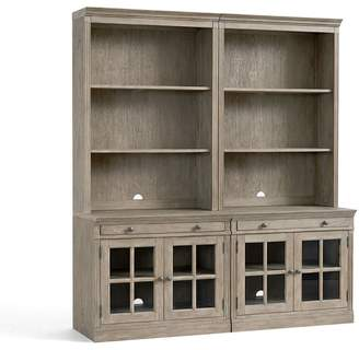 Pottery Barn Livingston Wall Suite with Glass Cabinets