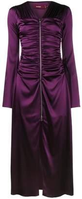 Sies Marjan Jade zip front silk dress