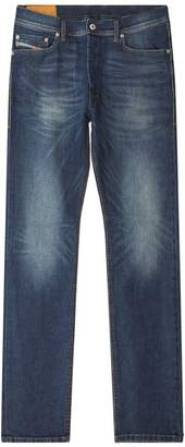 Diesel Distressed Tepphar Slim-Fit Jeans