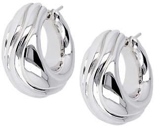 "Arte d'Oro 1"" Swirled Hoop Earrings, 18K"