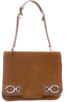 Balenciaga Suede & Leather Shoulder Bag