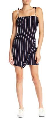 Dee Elly Striped Tie Strap Knit Mini Dress