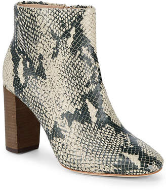 Pour La Victoire Rickie Cut Snake Embossed Zip-Up Bootie