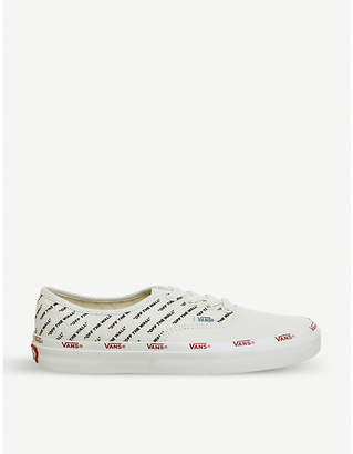 a2187d79eb Vans Authentic logo print canvas trainers