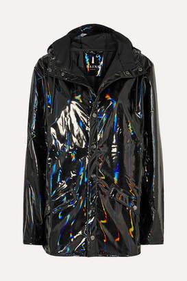 Rains Holographic Glossed-pu Jacket - Black