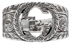 Gucci Silver Interlocking 'G' Ring $290 thestylecure.com