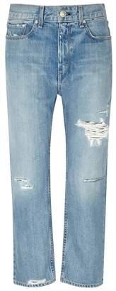 Rag & Bone Boy Cropped Distressed Boyfriend Jeans