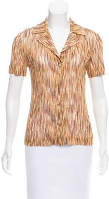 Missoni Short Sleeve Button-Up Top