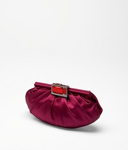 FINAL SALE Jewel Closure Ruched Clutch