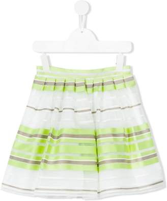 Il Gufo striped A-line skirt