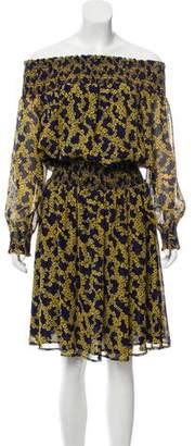 Michael Kors Off-The-Shoulder Printed Dress