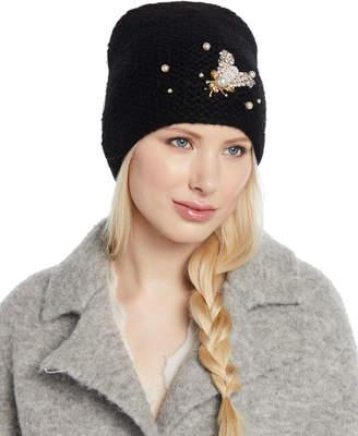 Jennifer Behr Embellished Bee Knit Beanie Hat