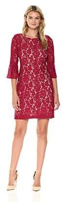 Taylor Dresses Women's Lace Long Slight Bell Shape Sleeve