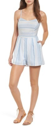 Women's Mimi Chica Tie Back Romper $49 thestylecure.com