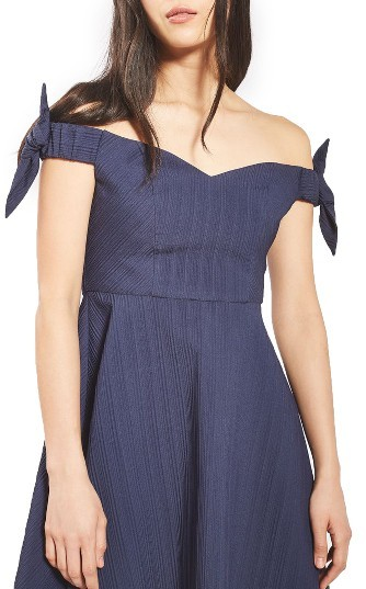 Topshop Women's Topshop Bow Off The Shoulder Dress