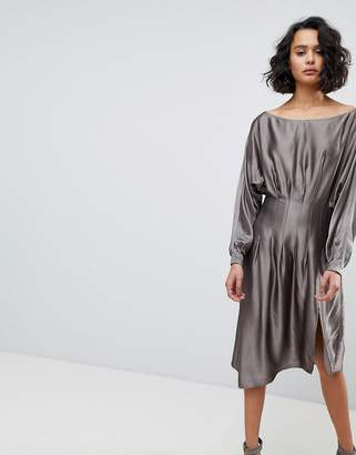 AllSaints Metallic Dress