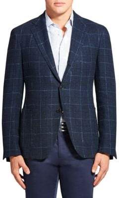 Etro Plaid Linen & Silk Jacket