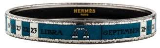 Hermes Zodiac Printed Enamel Narrow Bangle