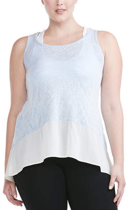 Electric Yoga Plus Tank With A Fling Tank