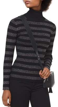 MICHAEL Michael Kors MICHAEL Metallic Striped Turtleneck Sweater