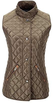 Bellivera Women's Stand Collar Lightweight Gilet Quilted Puffer Padded Sleeveless Vest Jacket for Spring and Winter
