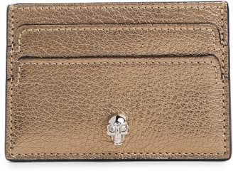 Alexander McQueen Metallic Leather Card Holder