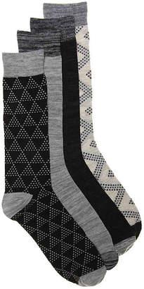 Lucky Brand Dotted Tile Dress Socks - 4 Pack - Men's