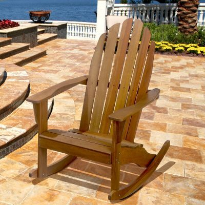 Natural Adirondack Rocking Chair