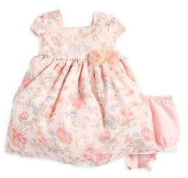Laura Ashley Baby Girl's Two-Piece Floral Chiffon Dress and Ruffled Bloomers Set