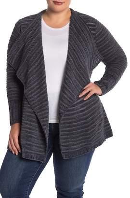 Susina Chenille Knit Shawl Collar Cardigan (Plus Size)