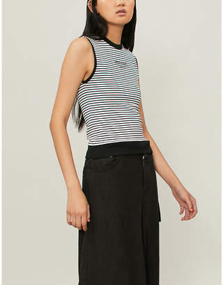Musium Tied-hem striped jersey vest