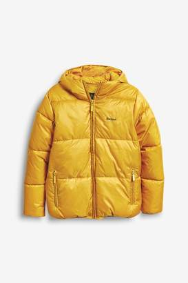 Barbour Boys Gold Ross Quilt Boys Jacket - Gold