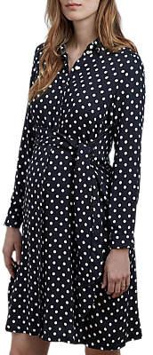 Isabella Oliver Elisha Maternity Shirt Dress, Black/White
