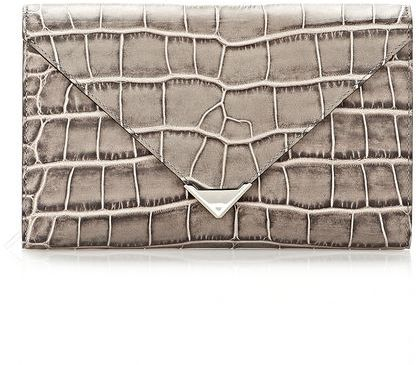 Alexander Wang Prisma Envelope Wallet In Oyster With Rhodium