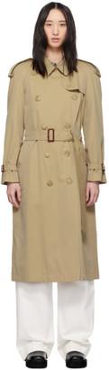Burberry Beige Long Classic Trench Coat
