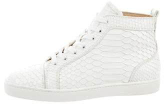 Christian Louboutin Snakeskin Louis Flat Sneakers