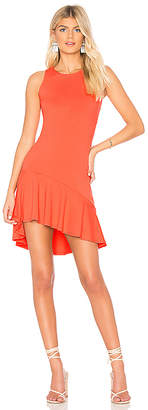 Susana Monaco Fitted Ruffle Hem Dress