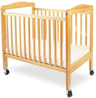 L.A. Baby Compact Wooden Window Portable Crib with Mattress