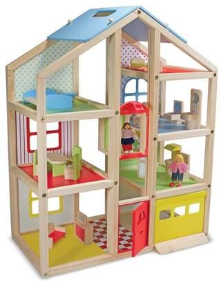 Melissa & Doug Wooden Hi-Rise Dollhouse Playset