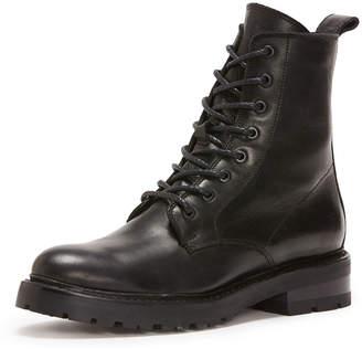 Frye Julie Leather Combat Boots