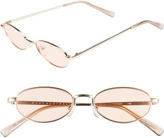 Quay 49mm Showdown Oval Sunglasses