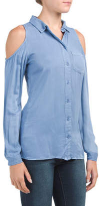 aa816c34193792 Cold Shoulder Chambray - ShopStyle
