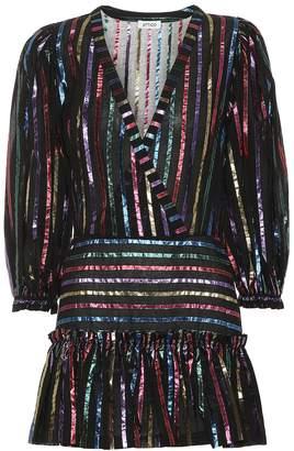 ATTICO The Striped jacquard minidress